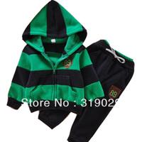 2013 Autumn Fashion Kids suits Children clothing Spost suit New brand Baby Boy Costume 2ps/set Jacket+pants