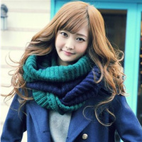2013 designs of qiu dong Korean qiu dong collar and colorful collar wool scarf female free shipping