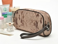 EMS free shipping 2013 serpentine pattern portable cosmetic bag coin purse coin case large capacity