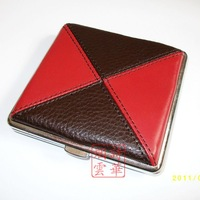 Double cigarette case genuine leather cigarette case 20 Mig