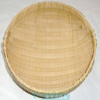 Free Shipping! Handmade knitted basket, bamboo fruit basket,  large bamboo basket wash rice