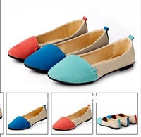 2013 spring and autumn boat shoes the wedding pointed toe flat female flat heel shoes female flat women shoes