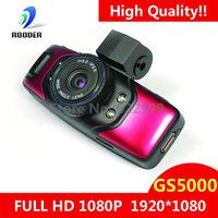 Full HD 1080P Car DVR Cam Recorder Camcorder Vehicle Dashboard Camera Built In GPS/G-Sensor+1.5inch+H.264 Video Codecr GS5000