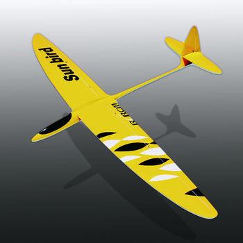 "Sunbird 60"" fiberglass rc airplane kit"