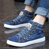 Spring men's shoes rivet canvas shoes skateboarding shoes summer fashion single shoes