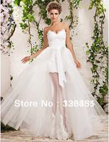 Hot Wedding Dress Princess Dresses Married Luxury 2013 Detachable Skirt Ball Gown Organza Applique Sweetheart Floor Length