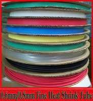0.6mm/0.8mm Fine Insulation Heat Shrink Shrinkable Tube 2:1 Shrink Flame 20M/lot Free Shipping