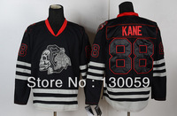 Free Shpping Wholesale Cheap NHL Hockey Jerseys Men's Skull Blackhawks #88 Kane Jersey,Embroidery Logos