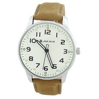Top quality JULIUS fashion luxury men's watches with leather band Retro quartz watch 9509