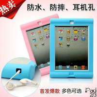 For new ipad 2 3 4 shock proof silicone Case, new arrival SHOCKPROOF silica gel Cover Shell for new ipad 3 free shipping