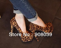 sale 2013 summer  Sexy fashion  leopard-print  pumps  with high heels shoes  with thick platform  women's shoes