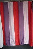 Bars of the whole terylene cloth shower curtain waterproof shower curtain 180 2 buckle