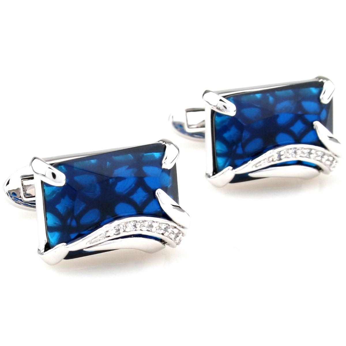 3 x Cuff Links Rare Wedding Groom Zircon male silver blue series gold brown cufflinks 3 Pairs Wholesale 2500016(China (Mainland))