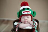 On Sale!Cartoon Baby Autumn & Winter Hat Kids Knitted Ear Muff Cap Child Crochet Ear Hat Cute Monkey(5pcs/lot)Free Shipping