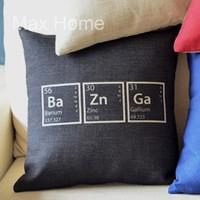 "Free Shipping 18"" The Big Bang Theory Sheldon Baznga Ba Zn Ga Vintage Linen Decorative Pillow Case Pillow Cover Cushion Cover"