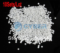 10Sets/Lot 1000pcs Elegant DIY Jewelry Accessories Hemispherical Beads Baby Cellphone Nail Art Decoration 3mm 10907
