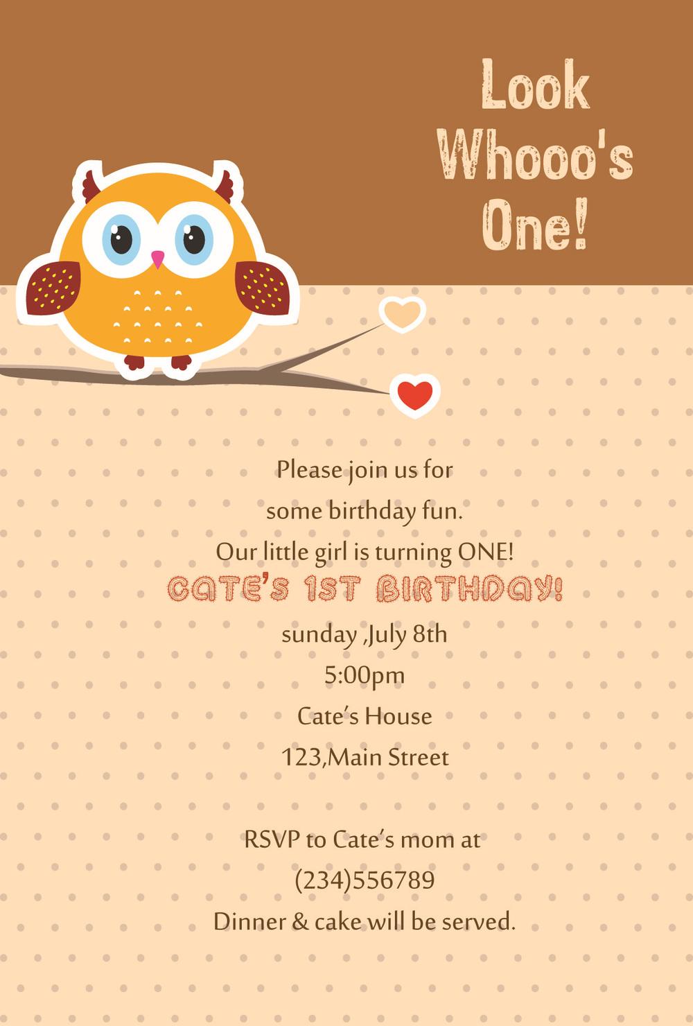 kids birthday party invitation card