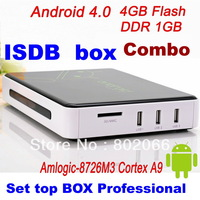 2013   Free Shipping  ISDB  t receiver  TV  Android 4.0 TV BOX Google TV Box IPTV reciever T tuner  WiFi HD 1080P ARM Cortex A9