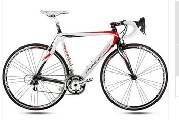 New 2010 Pinarello FP2 Carbon White Red Complete Bike 44, 47