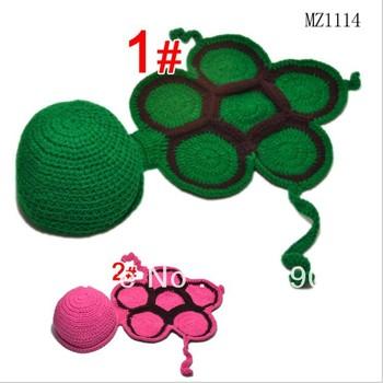 Free shipping Handmade Baby Cap Fashion Crochet Baby Caps Baby Knitted Caps Handmade Lovely turtle shell Baby Hat mz-071
