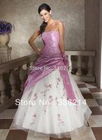 Hot Sale New Arrival Taffeta Long Formal Prom Dress Evening Gown Party Dresses Vestidos De Fiesta 2014 Stock Size 6-16