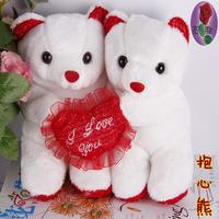 Hot Sale New 2014 Wedding Accessories Toys Fashion Bear Holding Heart Wedding Car Decoration Bear Doll
