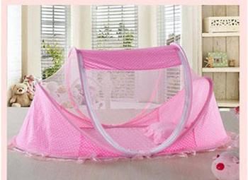 Baby bed mosquito net belt mount baby mosquito net yurt child folding mosquito net portable princess mosquito net