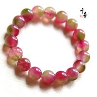 Free shipping 6mm 10mm watermelon jade bracelet color beauty bracelets cross