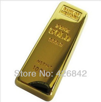 FREE SHIPPING retail genuine capacity 2G 4G 8G 16G 32G 64G gold bar shape usb flash drive