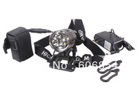Powerful 5200 Lumens 4 CREE LED XML T6 Bicycle lamp Headlamp+Charger+6400mah Battery Pack+1x Adjustable headband+2x Rubber Rings