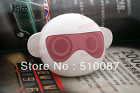 2013 New Cool Monkey card speaker PC computer speakers super bass speaker TF card and U-disk music player with FM  50pcs/lot