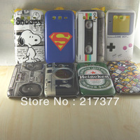 Wholesale Superman Snoopy Camera Game Hard Shell Back Case Cover For Samsung Galaxy Grand Duos i9082 Free Shipping 8 pcs/lot