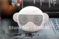 2013 New Cool Monkey card speaker PC computer speakers super bass speaker TF card and U-disk music player with FM  100pcs/lot