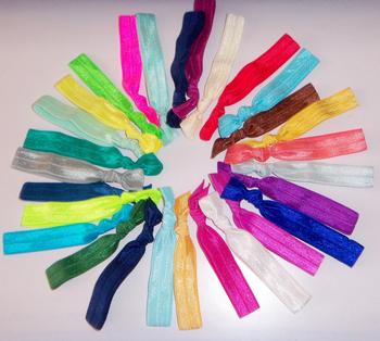 1000pcs mixed  50colors Elastic Hair Ties  Ribbon hair tie girl ponytail holder DHL, Fedex Free shipping