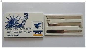 2014 KLOM Credit Card Lock Pick Tools  .... LOCKSMITH TOOLS lock pick set door lock opener lock bump key padlock tool cross pick