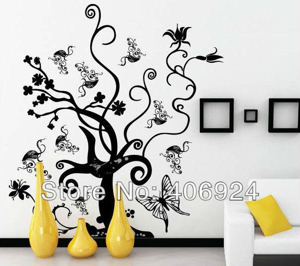 Room Wall Drawings Drawing Room Pvc Wall Art