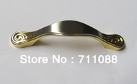 Simple Modern European zinc alloy double gold handle / cabinet drawer wardrobe door furniture handle Iris pitch 64mm