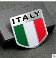 Refires emblem car sticker fiat national flag personalized aluminum standard discontinuing