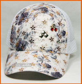 Sparkling diamond hat female sequin performance cap baseball cap hip-hop cap adult cap
