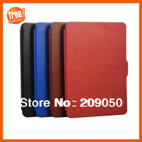 Smart Kindle PU Leather Case sleep function Slim Flip Cover Pouch For Amazon Kindle Paperwhite 1 2, Free Shipping