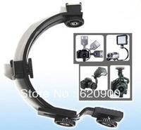 100% GUARANTEE 10 pcs Camera mini DV Camcorder C-Shape Bracket for Flash LED Video light DC DSLR SLR