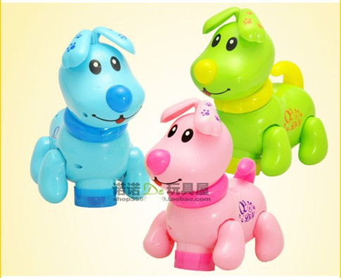Child music cartoon qq electric dog baby educational toys electric animal toy intelligent gift(China (Mainland))