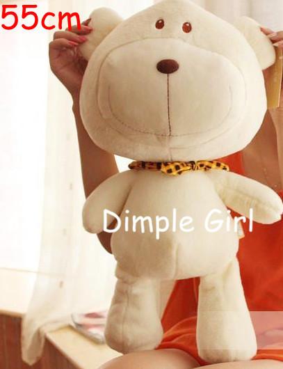 kawaii valentine stuffed big white teddy bear plush toy doll for girlfriend boyfriend gift birthday baby girl boy novelty items(China (Mainland))