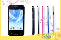 Smart Phone A7100 Android 4.0 4 Inch Touch Screen Dual Band Dual Sim Card Dual Camera Java FM 4Pcs/Lot DHL Freeshipping