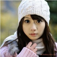 2pcs/lot  (can colour mix)NEW STYLE!!WARM  knitting wool Hats wholesale women winter hats BH-039 Free shipping