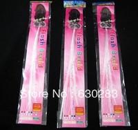 Free shipping 20pcs/lot40cm optical fibre led light braid glow braid flash headwear for concert Arbitrary choice cool