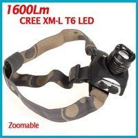 10 PCS/LOT SecurityIng 1600 Lumens CREE XML T6 LED Zoomable Headlamp