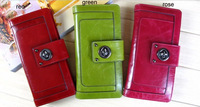 Hotsale genuin leather purses ,high quality cow leather womens wallet 2150