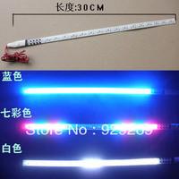 Free shipping Universal White 30CM 1210 32LED Car Knight Rider Strobe Strip Light