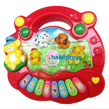 Animal music keyboard function child baby music toy puzzle